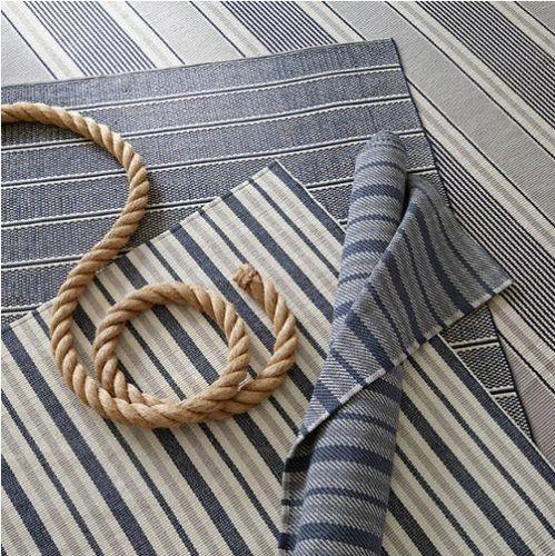 Gunner Stripe Woven Cotton Rug