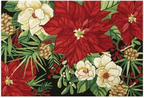 Indoor Christmas Floral Doormat