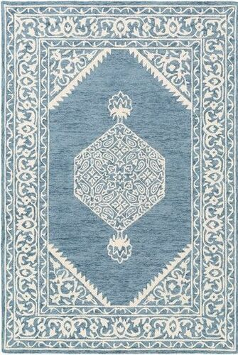 Kayseri Navy Cream Hand Tufted Rug