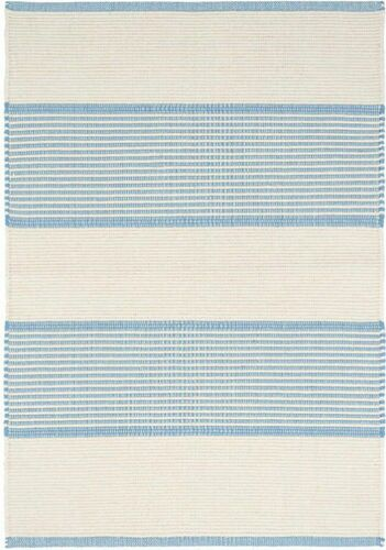 La Mirada Asiatic Blue Woven Cotton Rug <font color=a8bb25>NEW</font>