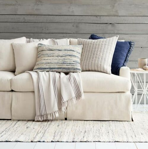 Laundered Linen Indigo Decorative Pillow 20% OFF