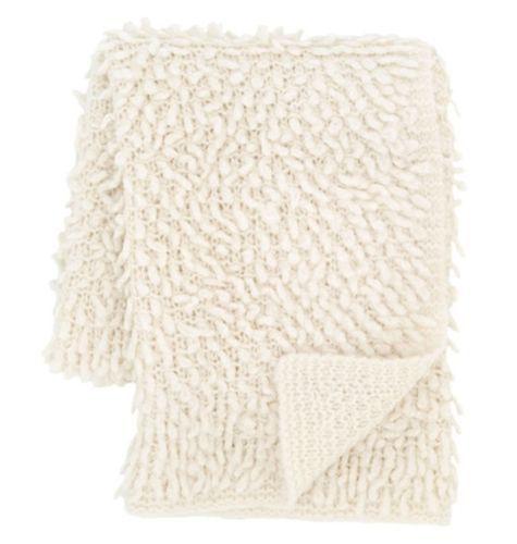 Mara Knit Ivory Throw