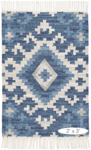 Marmara Kilim Woven Cotton Rug