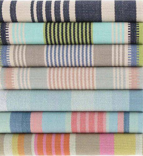 Moxie Stripe Woven Cotton Rug