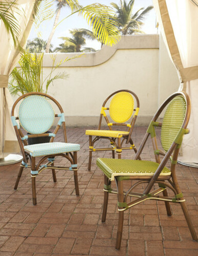 Paris Bistro Chair in Yellow - Set of Two