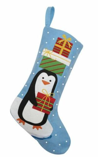 Penguin With Presents Felt Christmas Stocking<font color =a8bb35> Sold out</font>