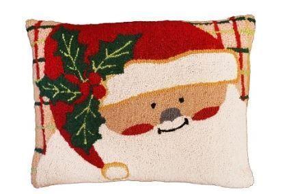 Plaid Santa Christmas Pillow