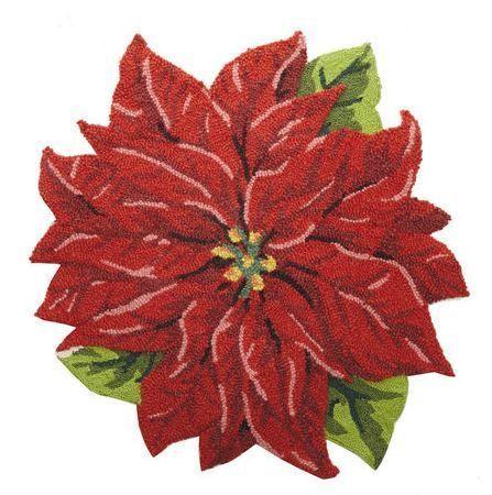 Poinsettia Indoor Christmas Doormat