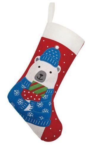 Polar Bear Felt Christmas Stocking<font color =a8bb35> Sold out</font>