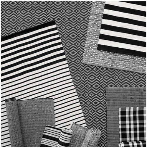 Port Stripe Black Indoor/Outdoor Rug