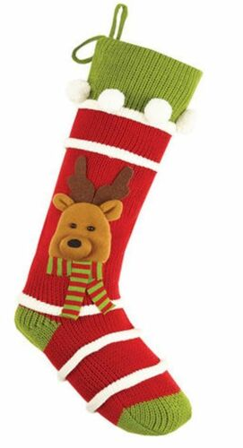 Reindeer Knit Christmas Stocking<font color =a8bb35> Sold out</font>