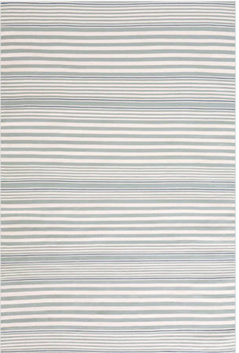 Rugby Stripe Light Blue Indoor/Outdoor Rug