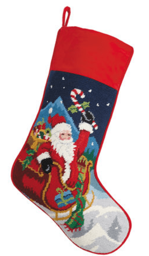 Santa Sleigh Christmas Stocking<font color =a8bb35> Sold out</font>