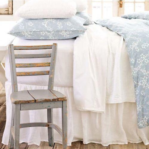 Savannah Linen Gauze Bed Skirt White