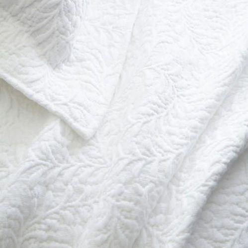 Scramble White Matelasse Coverlet