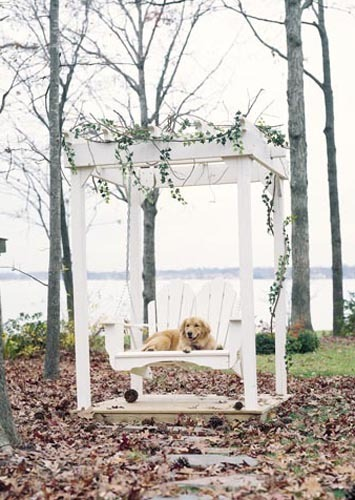 Seaside Outdoor Fanback Swing and Arbor