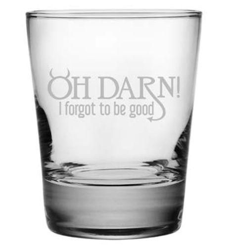 Set of 4 DOF Heavy Base Glasses - Oh Darn