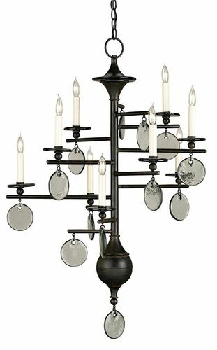 Sethos Chandelier - Old Iron - Two Sizes <font color=a8bb35>NEW</font>