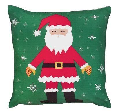 Snowflake Santa Christmas Pillow
