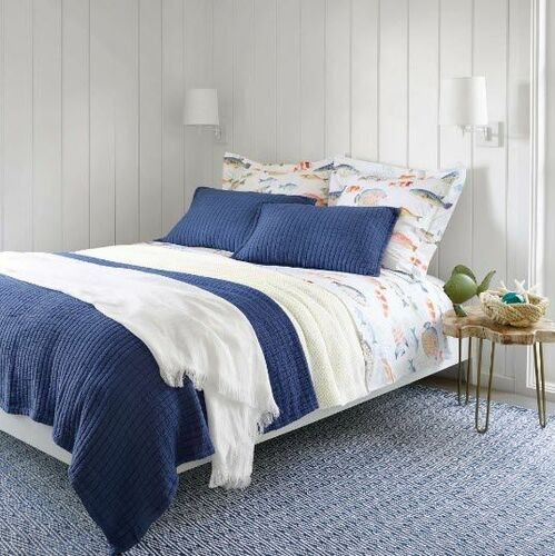 Stone Washed Linen Throw White <font color=cf2317> 20% Off</font>