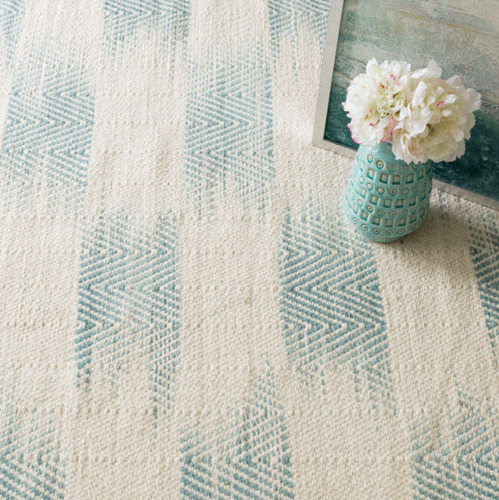 Tansy Blue Woven Wool Rug