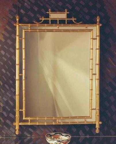 Turned Bamboo Mirror