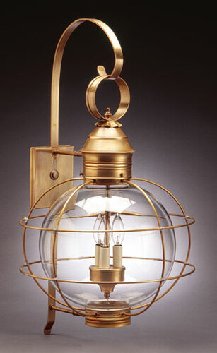 12 Round Onion Three Light Wall Fixture