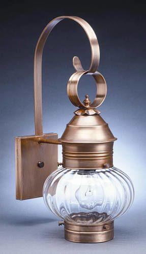8  Wall Mount Onion Lantern with Optic Glass