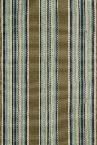 Blue Heron Stripe Cotton Rug