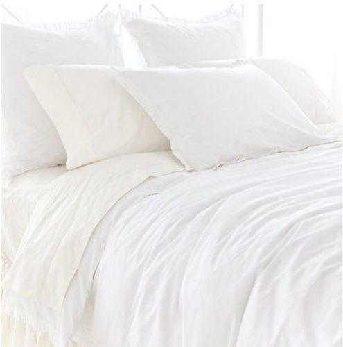 Classic Ruffle White Duvet Cover