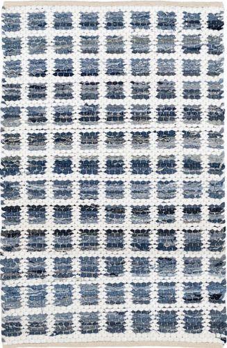 Denim Rag Squares Cotton Rug