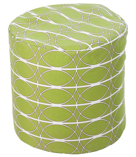 Fern Green Pouf