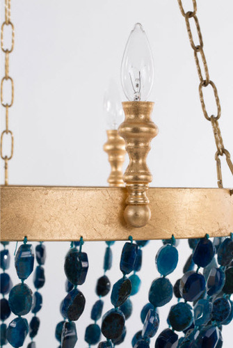 Gigi Blue Agate Beaded Chandelier