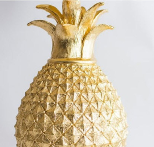 Golden pineapple table lamp for sale cottage bungalow golden pineapple table lamp aloadofball Choice Image