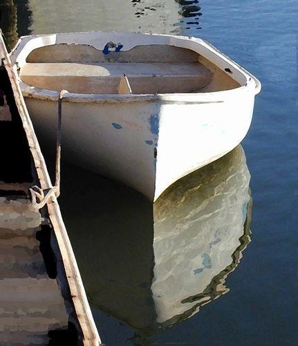 Lone Boat Print