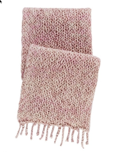 Chunky Knit Pink Throw<font color=cf2317> 20% Off</font>