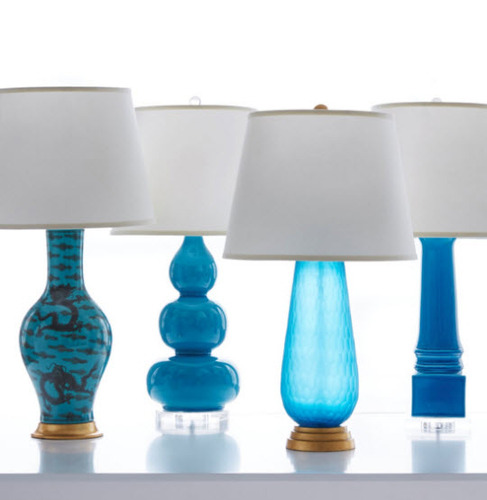 Prague Table Lamp Blue