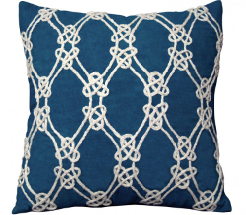 Nautical Rope Indoor Pillow in Navy