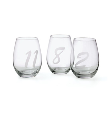 Set of 12 Noir Wine Glasses