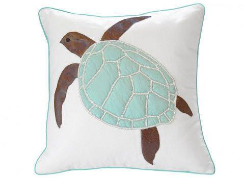 Turtle Indoor Pillow Seafoam Green