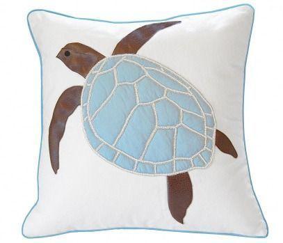 Turtle Indoor Pillow - Cottage Blue