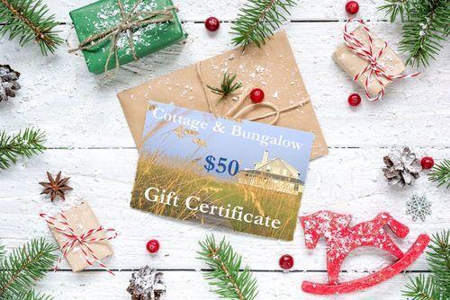 <b>Gift Certificates</B>