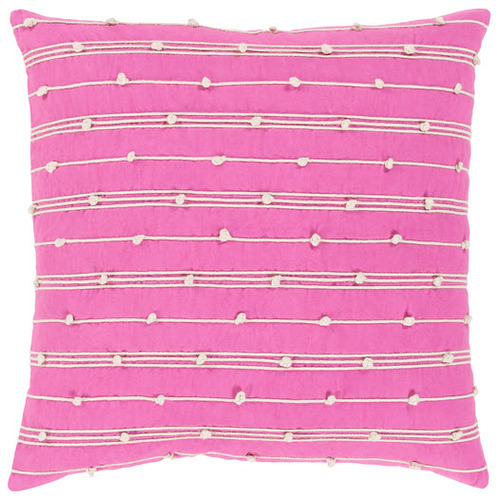 Accretion Pillow in Bright Pink