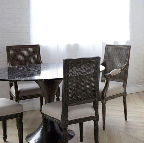Annette Cane Side Chair in Gray Limed Oak