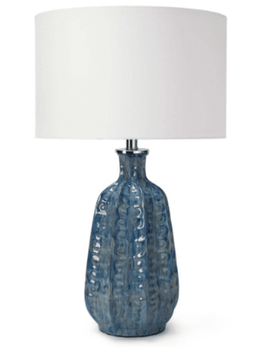 Antigua Blue Ceramic Table Lamp