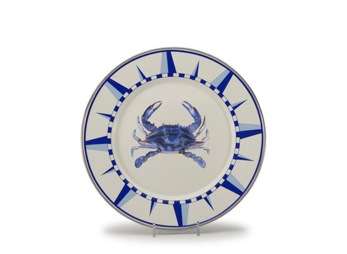 Blue Crab Dinner Plates Set of Four