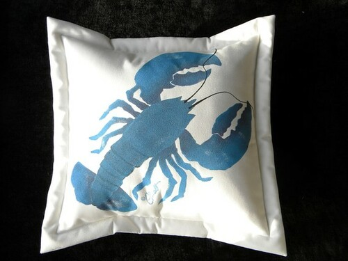 Blue Lobster Indoor/Outdoor Pillow