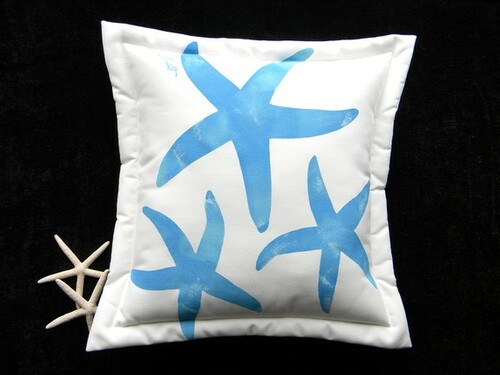 Blue Sea Stars Indoor/Outdoor Pillow