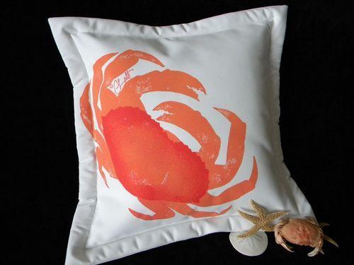 Coral Crab Indoor/Outdoor Pillow