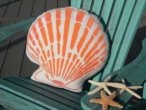 Coral Scallop Pillow